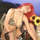 Teenage beauty in tights exposes her juicy snatch