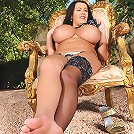 Leanne Crow in stockings